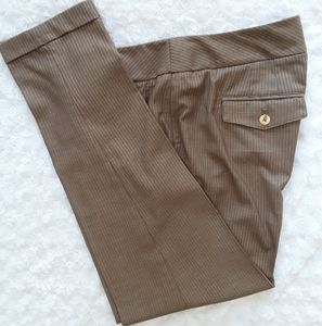 WHBM Expresso colored with pinstripes dress pants
